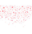 heart confetti falling down valentines day vector image vector image