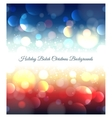 Holiday abstract bokeh christmas background vector image vector image