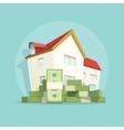 House with pile money home expense symbol vector image vector image