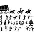 ICON MAN FAR WEST vector image