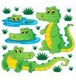 image with crocodile theme 3 vector image