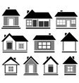 isolated cottage set vector image vector image