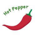 isolated hot pepper icon vector image vector image