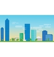 jakarta indonesia city skyline vector image vector image