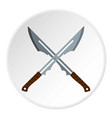 japanese short swords icon circle vector image vector image