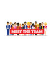 large group of different people in a team vector image vector image