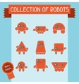 Little abstract robot doodle collection vector image