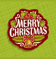 logo for christmas vector image vector image