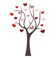 love tree icon vector image vector image