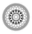 mandala vintage decoration classic circular design vector image
