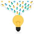 Many small ideas combine to big idea vector image vector image