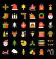merry christmas theme set pixel perfect flatd icon vector image