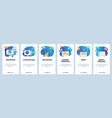 mobile app onboarding screens 3d modeling vector image vector image