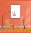 mockup living room interior in hipster style with vector image vector image