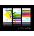 modern gift cards vector image vector image