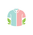 natural shirt icon design template isolated vector image