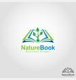 nature book - health education school logo vector image vector image