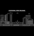 new orleans silhouette skyline usa - new orleans vector image vector image
