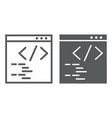 programming line and glyph icon website and vector image vector image