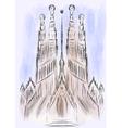 sagrada familia cathedral vector image