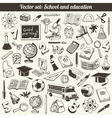 School And Education Doodles Collection vector image vector image