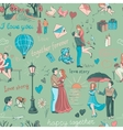 Seamless pattern with love story elements vector image vector image