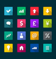 set business flat icons vector image vector image