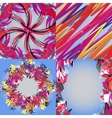 Set of abstract rainbow colored backgrounds with vector image