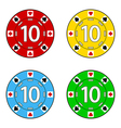 Set of casino chips vector image