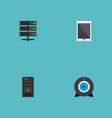 set of pc icons flat style symbols with camera vector image vector image