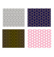 set of seamless islamic pattern art vector image vector image