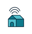 smart house connection wifi internet things vector image