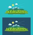 spring nature landscape in flat design style vector image