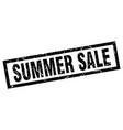 square grunge black summer sale stamp vector image vector image