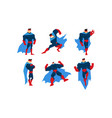 superman character set comic superhero in vector image vector image