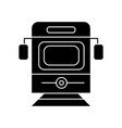 train - tram front view icon vector image vector image