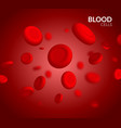 vein blood red cell biology medical vector image