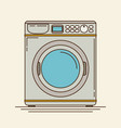 washing machine in flat stylemodern vector image vector image