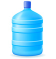 water in a plastic bootle 01 vector image vector image