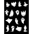 White Halloween ghosts vector image