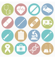 white icons medical vector image vector image