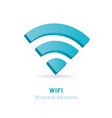 wi fi wireless network 3d symbol vector image vector image