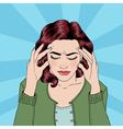 Woman has a Headache Woman Stress vector image vector image