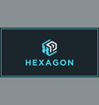 Xp hexagon logo design inspiration