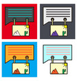 set of flat email attachment icon paper document vector image