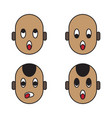 baby face emoticons vector image