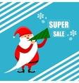 Santa super discount new year vector image