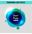 Abstract circle with glowing effect over vector image vector image