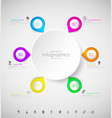 abstract infographic template with bubbles and vector image vector image