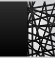 abstract template black lines futuristic vector image